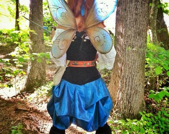 Pixie Hollow Style Wings for Cosplay Fairies Bridal Wedding Convention LARP Halloween Costume Fair Faire Festival Faery Wings