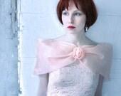 Peach Tulle and Brocade Princess Dress - Pink salmon full skirt Prom dress size XS, girls dress, Party dress