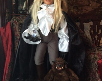 Sample Work: David Bowie OOAK Extra Large Jareth Goblin King of Labyrinth Froud Fan Art Doll