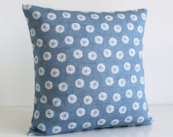 Decorative Pillow Cover, Cushion Cover, 16 Inch Pillow Case, 16x16 Throw Pillow cover, Pillow Sham - Fossil Blue