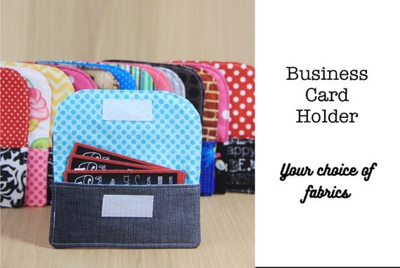 Business Card Holder for DSLR Camera Strap - Choose Custom Fabrics - Made to Order