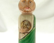Saint Jude the Apostle Wooden Doll - made to order