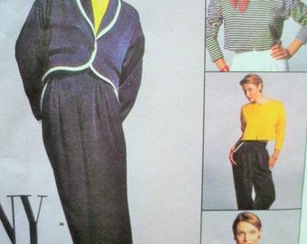 McCall's 8095 Sewing Pattern,1990s Sewing Pattern, Pants Pattern, Jacket Pattern,  Bust 31.5, Waist 24, Top Pattern, Breton Top, Cropped Top