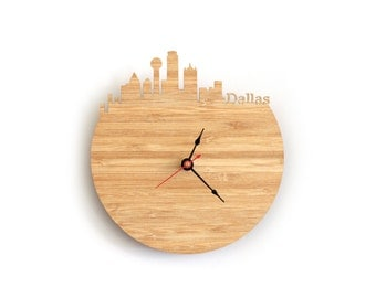 Clock - Dallas Skyline - Texas