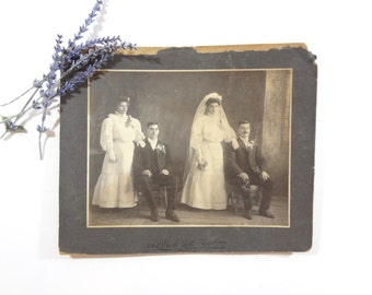 Antique 1800s Wedding Photo / Vintage Wedding Picture