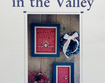 Blue Whale Designs CHRISTMAS In The VALLEY Merry House - Counted Cross Stitch Pattern Chart