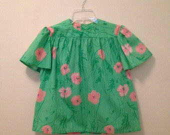60s Two Piece Lilly Pulitzer Zuzek Fabric Skirt and Blouse Set