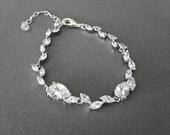 Cubic Zirconia bracelet ~ Brides bracelet ~ Wedding bracelet ~ Bridal jewelry ~ Tennis bracelet ~ High quality ~ Lux ~ LILLY
