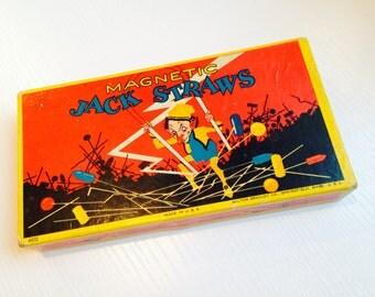 Vintage Milton Bradley Magnetic Jack Straws Game