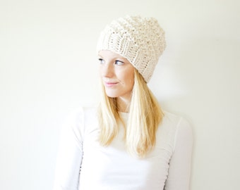 chunky knit hat womens slouchy hat beanie - fisherman - the ICARD