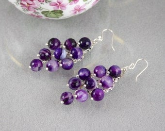 Purple Amethyst Chandelier Earrings