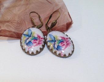 Humming Bird Earrings - Humming Bird Jewelery - Humming Bird - Humming Bird Necklace - Humming Bird Ring