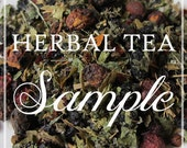 HERBAL TEA SAMPLES- Organic Herbal Tea Sample Sizes - Free shipping when purchased with another item.