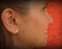 Tragus ring - gold tragus earring - tragus jewelry - tragus piercing ring - tragus - tragus earring - tragus hoop - Hippie style tragus