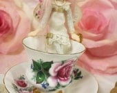 Antique Tea Fairy ooak posable fairy art doll original