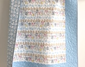 Baby Boy Quilt featuring Babes in Farmland by Timeless Treasures Blue White