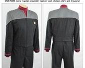 Star Trek Sewing Pattern Bundle - Starfleet uniform - Deep Space Nine, First Contact, Nemesis - Jacket, Vest, Shirt, Pants - male - save 10%