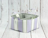 LG Diaper Caddy Storage Basket Nursery Decor - Lavender Lulu and Grey