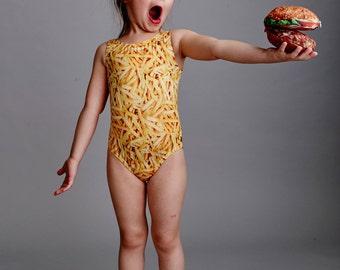 FRY GIRL: Girl's Tank Swimsuit