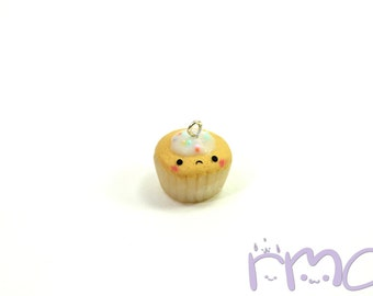 Cupcake Charm, Polymer Clay Cupcake, Polymer Clay Charm, Cupcake Jewelry, Food Charm, Miniature Food, Mini Food, Mini Food Jewelry