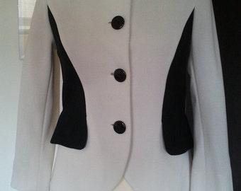 Jersey RACINE Paris vintage couture jacket S