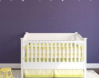 Stars Decal Border - Baby Girl Nursery Wall Decal -  Baby Girl Wall Decal - Baby Boy Nursery - Baby Boy Wall Decal - Nursery Decal DP014