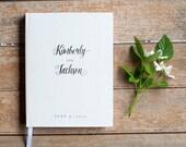 Wedding Guest Book Wedding Guestbook Custom Guest Book Personalized Customized custom design wedding gift keepsake calligraphy classic book