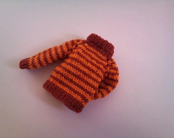 SALE Striped hand knitted sweater  for Blythe