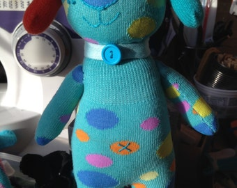 Spotty Blue dog---SOLD