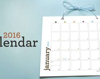 2016 Printable Calendar | Download