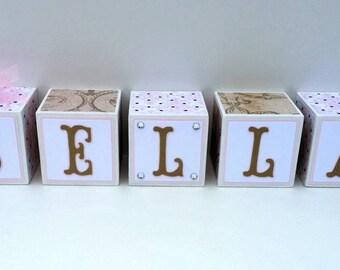 Wooden Name blocks, wooden letter blocks, personalized name blocks, personalized wooden blocks, nursery block letters, nursery decor