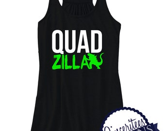 QUADZILLA workout tank Ladies Racerback Tank Top