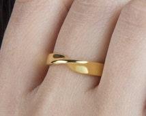 Mobius ring, 9k Mobius ring, SOLID GOLD mobius ring, Silver mobius ring, Rose mobius ring, Eternity ring Sterling silver ring,Width 4,5mm