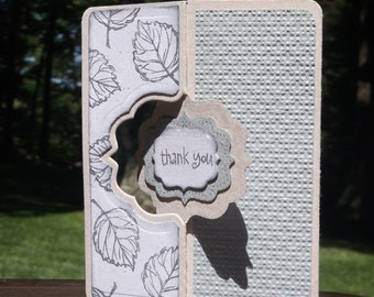 Thank You Card Made Entirely With 100% Recycled Handmade Paper