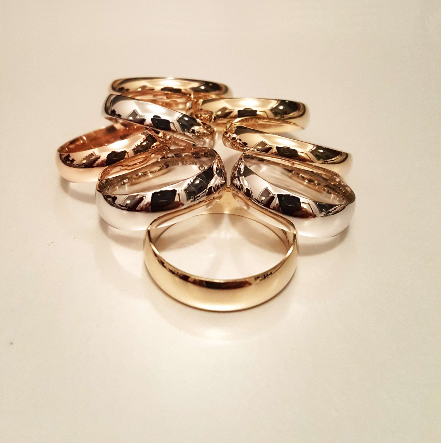 14k solid gold wedding engagement ring 14k gold his and hers