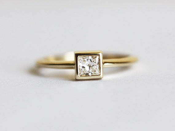 Simple Engagement Ring Solitaire Engagement Ring Square