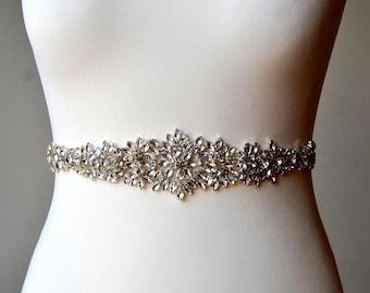 Bridal Sash, Wedding Dress Sash Belt, Rhinestone Sash, Rhinestone Bridal Bridesmaid Sash Belt, Wedding dress sash belt