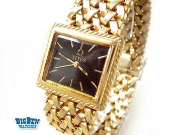 Vintage SOLVIL et TITUS Geneve Dress Watch with MESH Bracelet