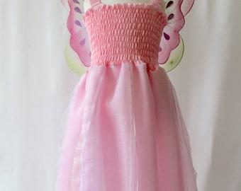 Pink Fairy Dress, Pink Girl's Dress, Princess Dress, Baby Fairy Dress, Girl's Costumes, Pink Party Dress, Girl's Fairy Dress, Birthday Dress