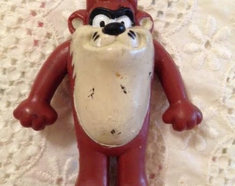 1988 Arby's Giveaway Warner Brothers Tasmanian Devil Rubber Toy
