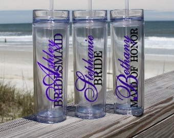 Bridal Party Gift, Personalize Wedding Gift, Wedding Party Gift, Bridesmaid Gift, Tumbler, Wedding Gift Idea, Wedding Favor,