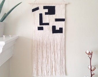 Abstract white and black weaving
