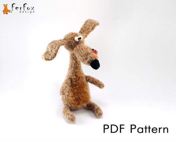 Amigurumi Dog Toy Patterns : Amigurumi pattern crochet dog pattern DIY PDF tutorial