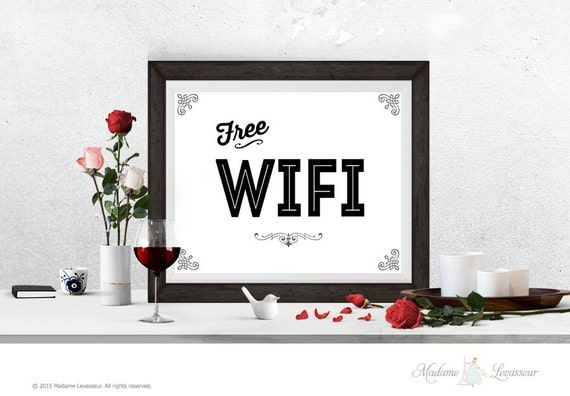 printable sign Free WIFI signs instant download by ...