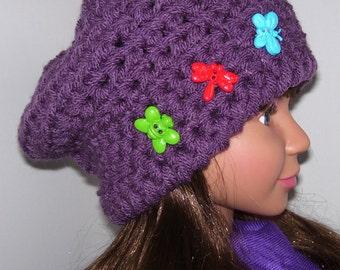 Purple toddler hat. Crochet childrens hat. Childrens handmade clothing. Girls hat. Girls purple hat. Christmas gift. Girls beanie