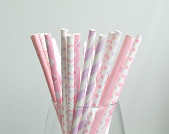 SWEET TOOTH Paper Straws // Stripes - Polka Dots // Wedding // Bridal // Baby Shower // First Birthday