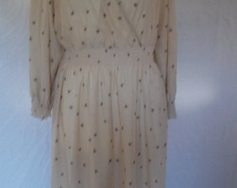 Vintage dress 70s Gillian Paul Made in England floral dress size medium