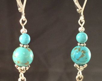 Turquoise with pewter cross