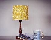Lampshade, mustard lampshade, mustard yellow, geometric, geometric lampshade, retro lamp, baby nursery, children bedroom, new home gift