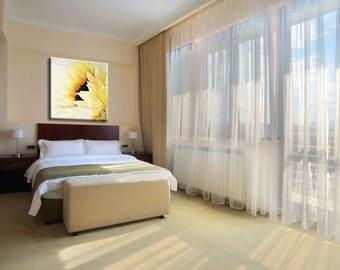 Decorative Art, Decorative Painting, Flower Wall Decor, Flower Canvas Art for Bedroom, Bedroom Wall Art Sunflower Painting nature painting